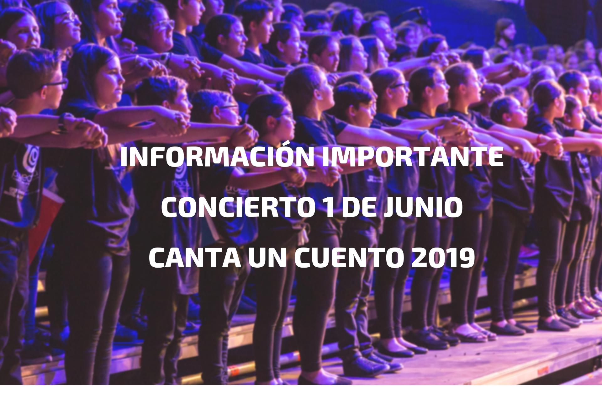 Información Concierto 1 de junio