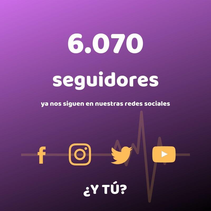 6070 Seguidores en nuestras redes